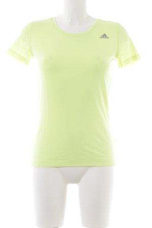 Adidas Camiseta amarillo pálido look casual