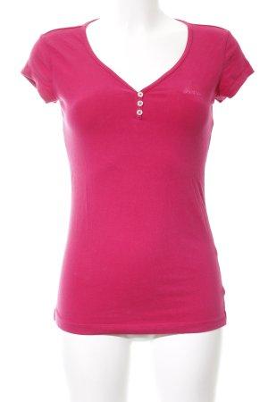 Adidas T-Shirt pink Schriftzug gestickt Casual-Look