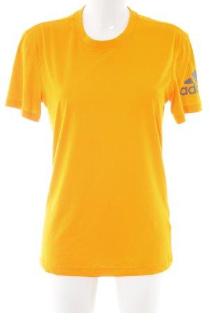 Adidas Camiseta amarillo pálido letras impresas estilo deportivo