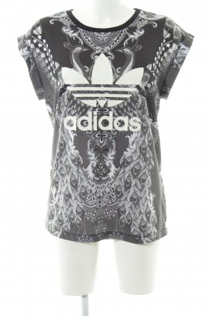 Adidas T-Shirt florales Muster Casual-Look
