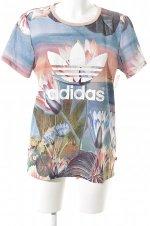 Adidas T-Shirt florales Muster sportlicher Stil