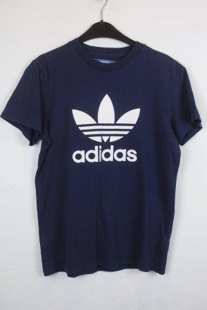 Adidas T-Shirt Gr. XS dunkelblau Logo Print (18/3/224)