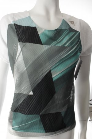 Adidas T-Shirt grafisches Muster sportlicher Stil