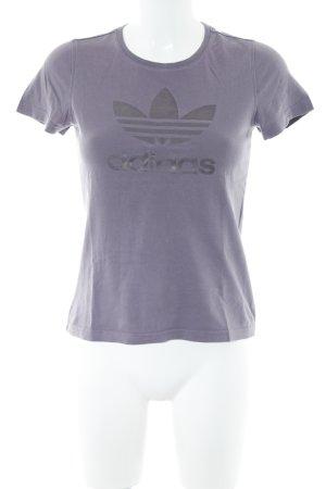 Adidas T-Shirt graulila Casual-Look