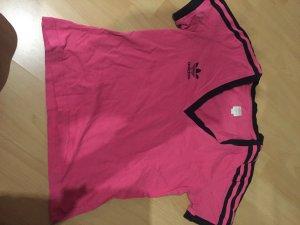Adidas T-Shirt Größe ca.S pink-schwarz