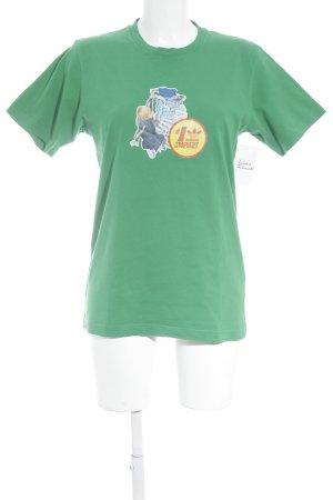 Adidas T-Shirt grün platzierter Druck sportlicher Stil