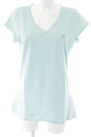 Adidas Camiseta azul claro estilo deportivo