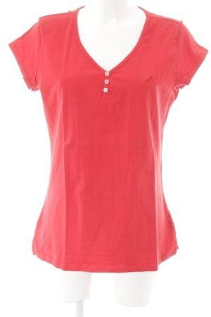 Adidas Camiseta rojo claro estilo deportivo