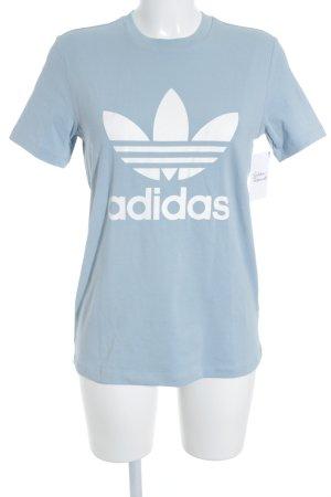 Adidas T-Shirt himmelblau-weiß sportlicher Stil