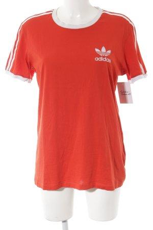 Adidas T-Shirt lachs-weiß sportlicher Stil