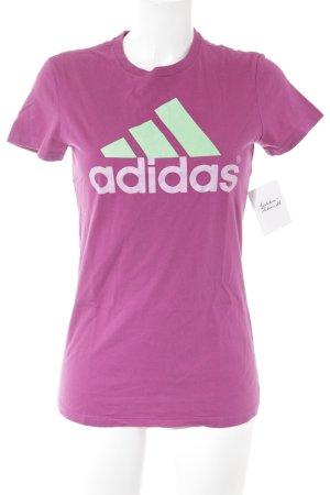 Adidas T-Shirt magenta sportlicher Stil