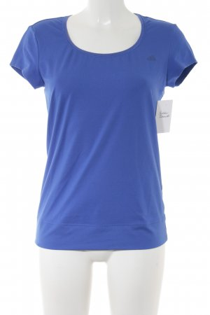 Adidas T-Shirt neonblau Casual-Look