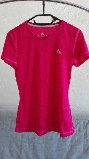 Adidas T-Shirt pink XS 34 32 knallig climalite