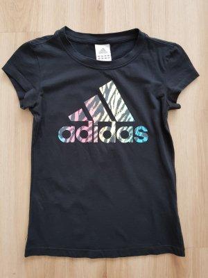Adidas T-Shirt schwarz / bunt Gr. XS *** sehr guter Zustand ***