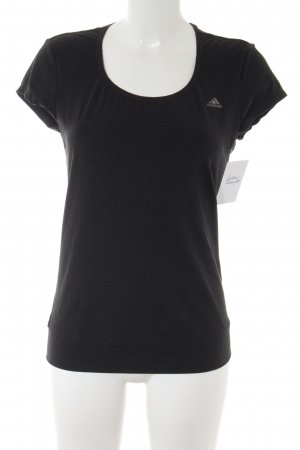 Adidas T-Shirt schwarz Casual-Look