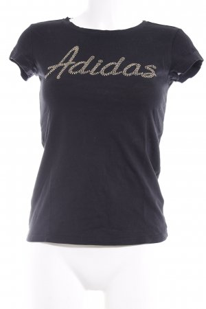 Adidas T-Shirt schwarz-goldfarben Casual-Look