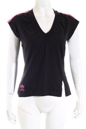 Adidas T-Shirt schwarz-pink sportlicher Stil