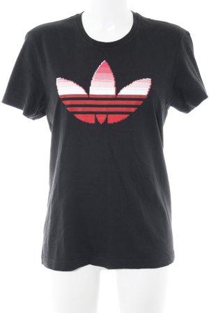 Adidas T-Shirt schwarz-rot sportlicher Stil