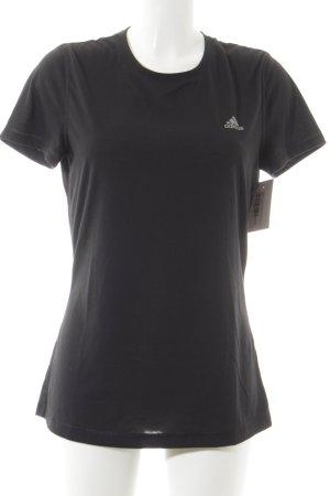 Adidas T-Shirt schwarz-silberfarben sportlicher Stil