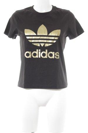 Adidas T-Shirt schwarz sportlicher Stil