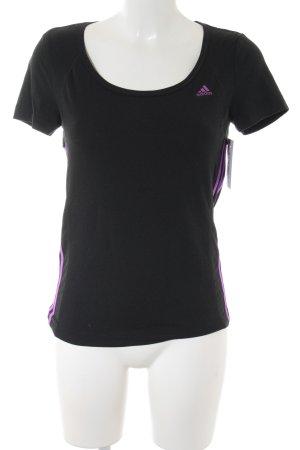 Adidas T-Shirt schwarz-violett Casual-Look