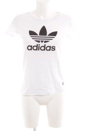 Adidas T-Shirt schwarz-weiß Monogram-Muster Casual-Look