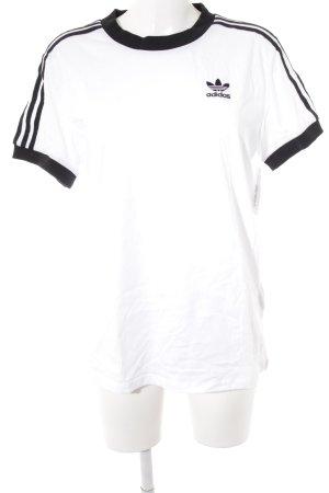 Adidas Camiseta negro-blanco letras impresas look Street-Style