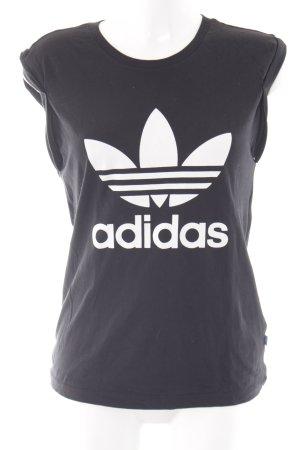 Adidas T-Shirt schwarz-weiß sportlicher Stil