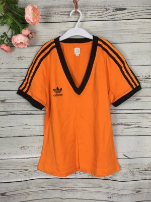 Adidas T-Shirt Shirt Orange Schwarz 38 M