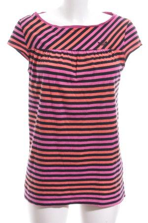 Adidas T-Shirt Streifenmuster Casual-Look