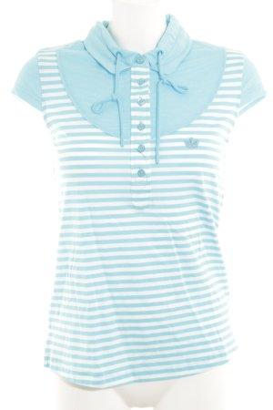 Adidas T-Shirt türkis-weiß Streifenmuster sportlicher Stil