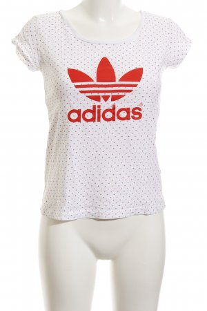 Adidas T-Shirt white-bright red athletic style