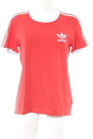 Adidas T-Shirt weiß-rot sportlicher Stil