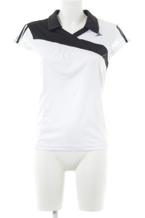 Adidas T-Shirt weiß-schwarz sportlicher Stil