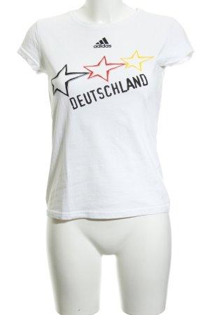 Adidas T-shirt bianco stile atletico