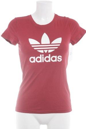 Adidas T-Shirt ziegelrot sportlicher Stil