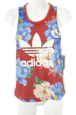 Adidas Tanktop Blumenmuster sportlicher Stil