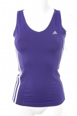 Adidas Tank Top dark violet-silver-colored athletic style