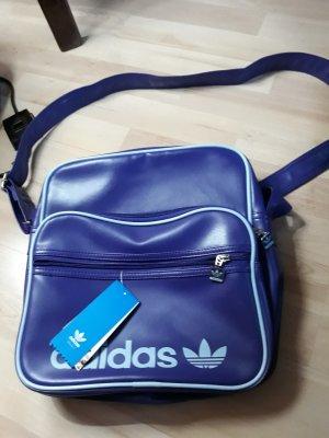 Adidas Sac de sport gris clair-bleu violet
