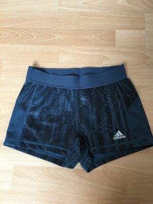Adidas Techfit Hotpants Shorts grau M 38 40 Streifen Neuwertig Petrol