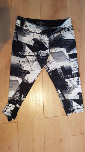 Adidas Tights 3/4 schwarz weiß Muster