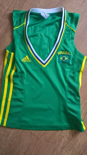 Adidas Originals Camicia fantasia verde-giallo pallido Tessuto misto