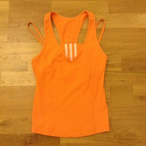 Adidas Top Sporttop Shirt orange Gr. 34 Super Zustand