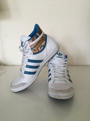 Adidas Top Ten Hi Sleek Mid   weiß Türkis floral   37,3 sneaker