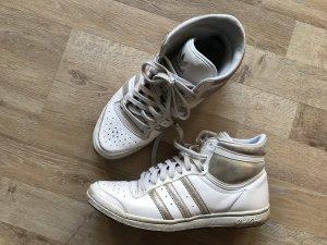 Adidas top ten high sleek Sneaker in 38 2/3 in weiss mit etwas Glitzer
