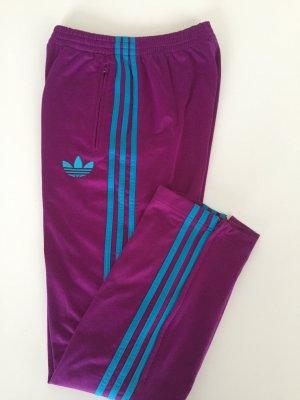 Adidas Track Pants HipHop streetwear XS Brombeere Türkis