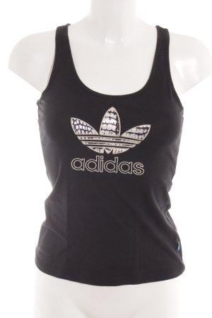 Adidas Trägertop schwarz-creme sportlicher Stil