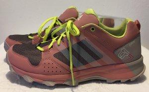 Adidas Zapatilla brogue rosa-amarillo fibra textil