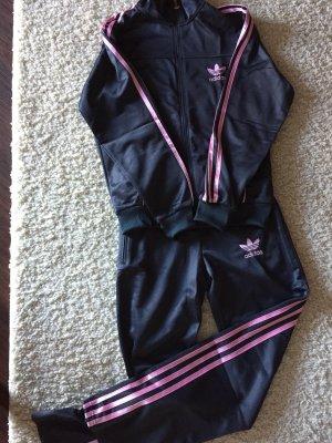 Adidas Trainingsanzug grau/rosa in Größe XXL