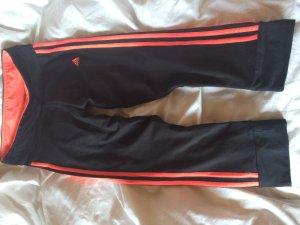 Adidas Trainingshose 3/4 Länge Schwarz Pink XS